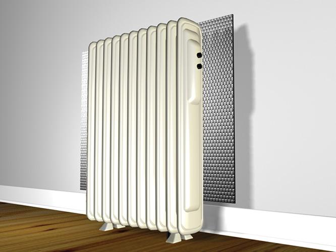 How To Locate Floor Joists >> Behind Hot Water Radiator | Reflectix, Inc.