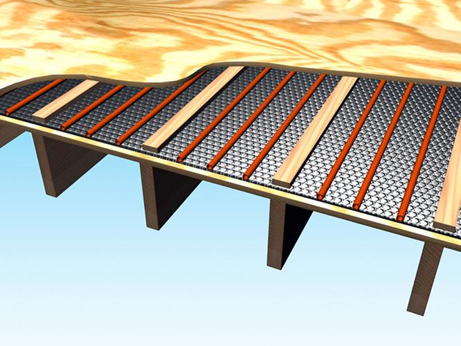 Radiant Floor In A Subfloor Reflectix Inc