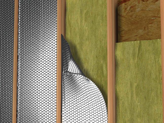 Wall exterior 2 x 4 reflectix inc for Proper insulation for exterior walls