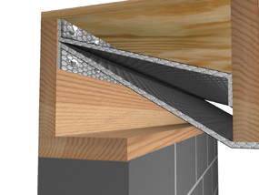 Crawl Space Close Up Of Band Board 72 Rgb Reflectix Inc