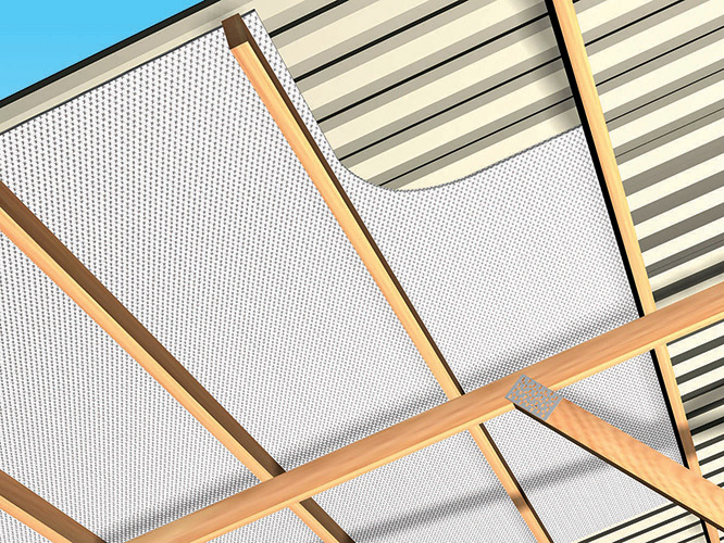 Post Frame Building Roof New Reflectix Inc