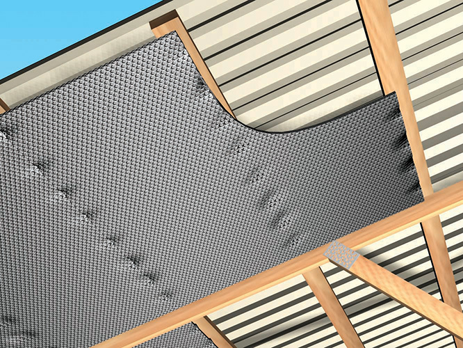 Post frame building roof retrofit bottom of purlin reflectix as a result a 96 reduction of the radiant energy that ordinarily would be transmitted to the interior of the building is blocked publicscrutiny Gallery